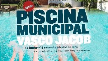 Piscina Municipal Vasco Jacob abre no dia 15 de junho